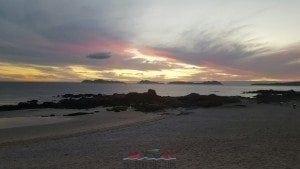 Cielo Anaranjado sobre Las Islas Cíes - Abril 2016