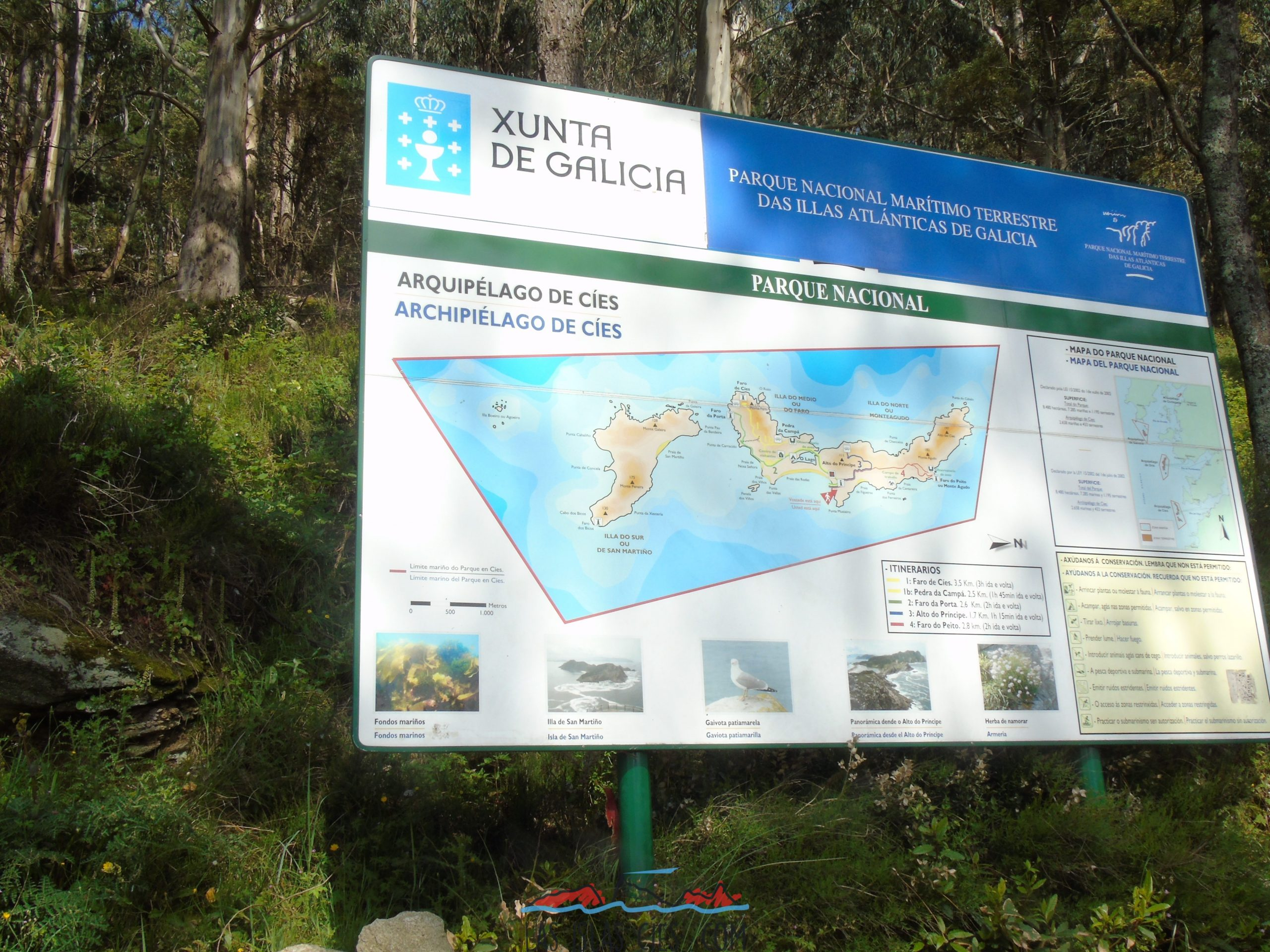Mapa Islas Cíes