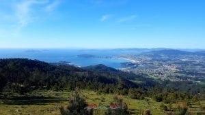 Islas Cíes desde Alto do Monte da Groba