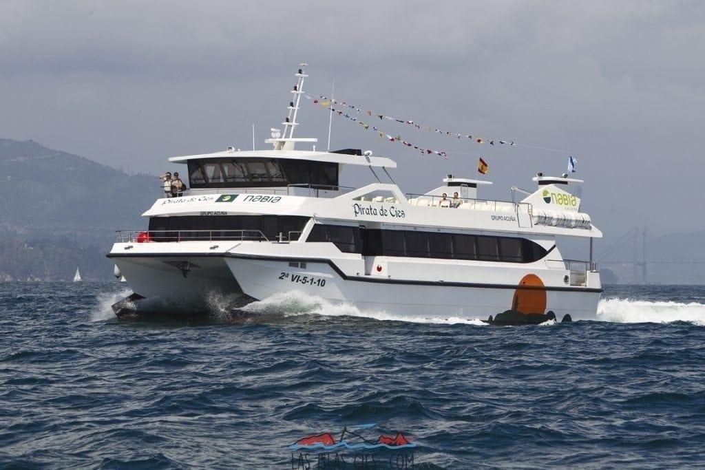 Barco a las Islas Cíes - Pirata de Nabia