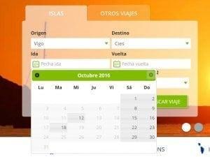 Calendario de VIajes a Las Islas Cíes - Mar de Ons