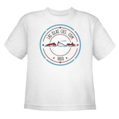 Camiseta Islas Cíes NIÑO_BLANCO Frente