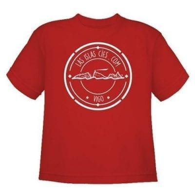 Camiseta Islas Cíes NIÑO_ROJO frente